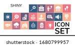 shiny icon set. 19 filled shiny ... | Shutterstock .eps vector #1680799957
