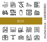 set of box icons. such as... | Shutterstock .eps vector #1680800881