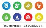 modern simple set of fear... | Shutterstock .eps vector #1680803734