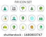 fir icon set. 15 flat fir icons....   Shutterstock .eps vector #1680803767