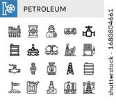 petroleum simple icons set.... | Shutterstock .eps vector #1680804661