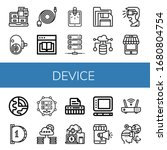 Device Simple Icons Set....