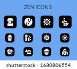 zen icon set. 12 filled zen...   Shutterstock .eps vector #1680806554