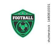 football logo with sport ball ... | Shutterstock .eps vector #1680810331
