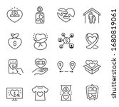 charity  icon set. voluntary... | Shutterstock .eps vector #1680819061