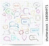 sketchy speech bubbles. vector... | Shutterstock .eps vector #168084971