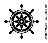 helm vector icon logo boat... | Shutterstock .eps vector #1680861184