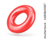 Blank Red Swim Ring Isolated On ...