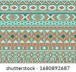 navajo american indian pattern... | Shutterstock .eps vector #1680892687