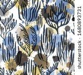 ocean corals seamless pattern.... | Shutterstock .eps vector #1680893731