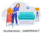 home care services for seniors. ... | Shutterstock .eps vector #1680904417
