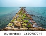 Stone Jetty At Sea. Stone Jett...