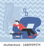 sad or bored person staying... | Shutterstock .eps vector #1680939574