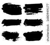 ollection of black grunge... | Shutterstock .eps vector #1680949177