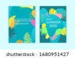 set of summer exotic... | Shutterstock .eps vector #1680951427