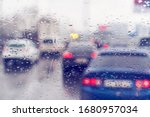 Dense Traffic On A Rainy Day....