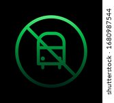 bus ban nolan icon. simple thin ...