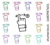 swipe gesture multi color icon. ...