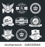 retro vintage badges and labels | Shutterstock .eps vector #168100064