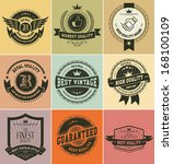 retro vintage badges and labels | Shutterstock .eps vector #168100109