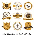 retro vintage badges and labels | Shutterstock .eps vector #168100124