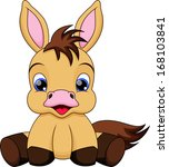 funny baby horse | Shutterstock . vector #168103841