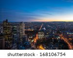 a view of melbourne at night ... | Shutterstock . vector #168106754