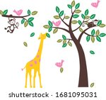 colorful animals. for the baby... | Shutterstock .eps vector #1681095031