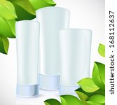 set of blank cosmetic bottles... | Shutterstock . vector #168112637