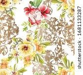 flower print. elegance seamless ... | Shutterstock .eps vector #1681133287