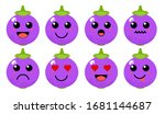 set of cute cartoon colorful... | Shutterstock .eps vector #1681144687