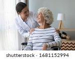 Happy Female Nurse Or Caregiver ...
