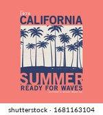 summer concept tee print design ... | Shutterstock .eps vector #1681163104