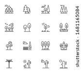 nature landscape line icons set....   Shutterstock .eps vector #1681165084