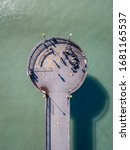 Abstract Aerial Shot Of Pier...