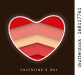 happy valentines day... | Shutterstock .eps vector #168117761