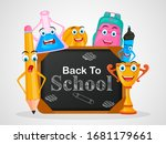back to school concept with... | Shutterstock .eps vector #1681179661