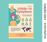 symptoms corona virus flyer... | Shutterstock .eps vector #1681180801