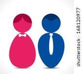 male female icon vector | Shutterstock .eps vector #168120977