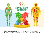 weight loss. body mass index.... | Shutterstock .eps vector #1681218427