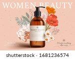 fragrant cleansing product mock ... | Shutterstock .eps vector #1681236574