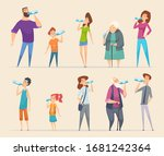 people water drinking. young...   Shutterstock .eps vector #1681242364