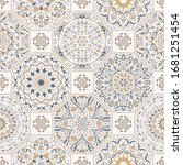 seamless colorful patchwork in... | Shutterstock .eps vector #1681251454