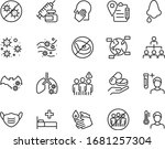 set of coronavirus icons  virus ...   Shutterstock .eps vector #1681257304
