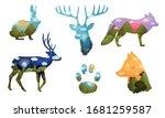 Silhouettes Of Wild Animals...
