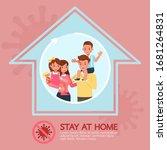 stay at home  stop coronavirus... | Shutterstock .eps vector #1681264831