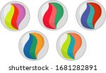 set of different colors of... | Shutterstock .eps vector #1681282891