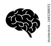 human brain vector icon....   Shutterstock .eps vector #1681288051