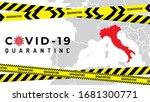 pandemic coronavirus outbreak... | Shutterstock .eps vector #1681300771