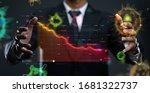 businessman showing crashing... | Shutterstock . vector #1681322737